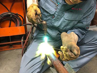 ガス溶接加工(銅管)